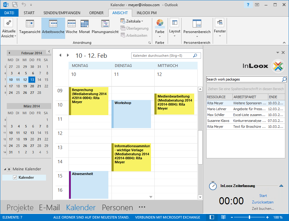 <b>Kalender</b> – Outlook um Projektmanagement-Funktionen erweitern.