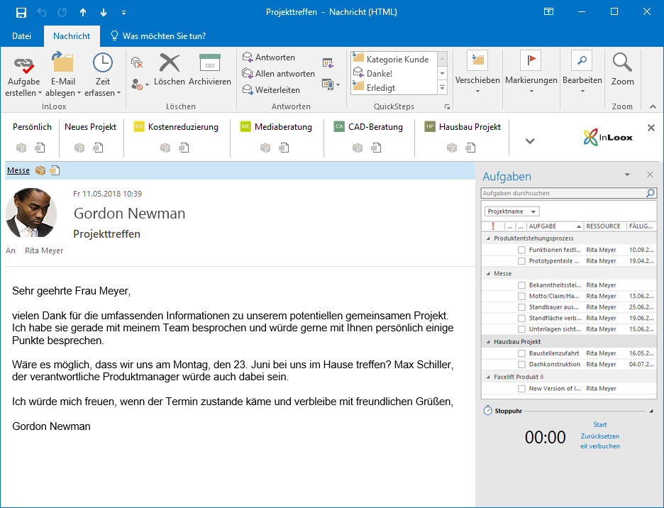 <b>Outlook-Synchronisation</b> – Nutzen Sie Synergieeffekte mit Microsoft Outlook